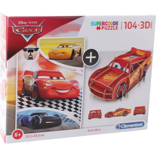 CLEMENTONI SUPER COLOR ΠΑΖΛ 104ΤΜΧ 3D CARS