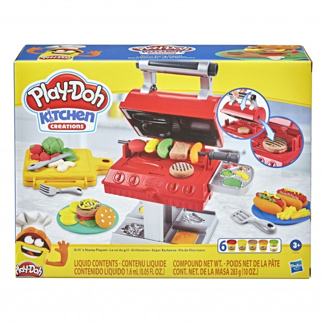 PLAY DOH ΨΗΣΤΑΡΙΑ ΜΕ 6 ΒΑΖΑΚΙΑ ΠΛΑΣΤΕΛΙΝΕΣ