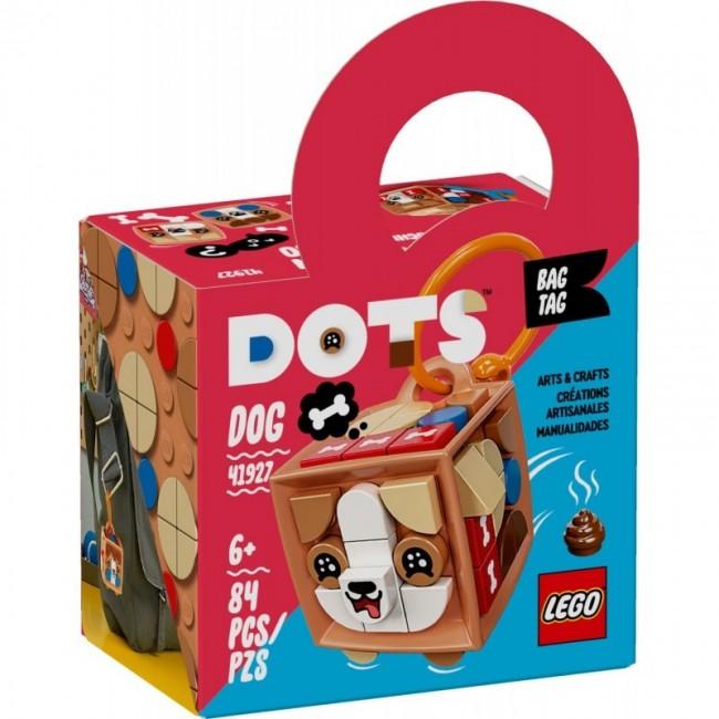 LEGO DOTS BAG TAG DOG